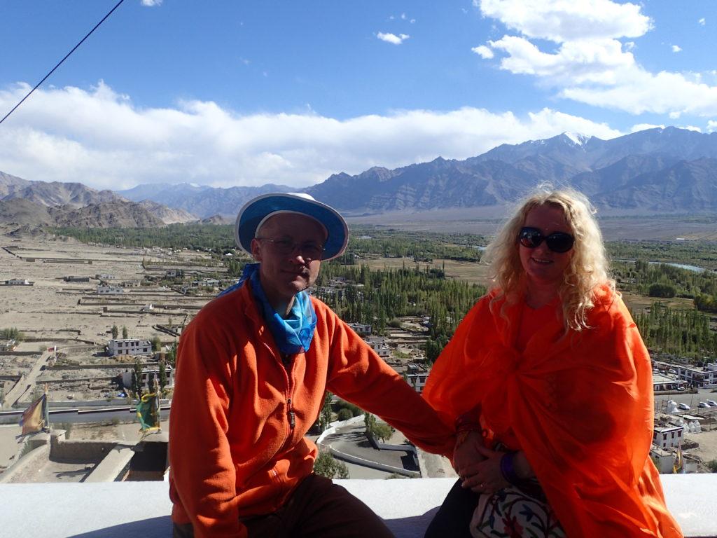 Calin and Semida at Spituk Gompa in Ladakh India