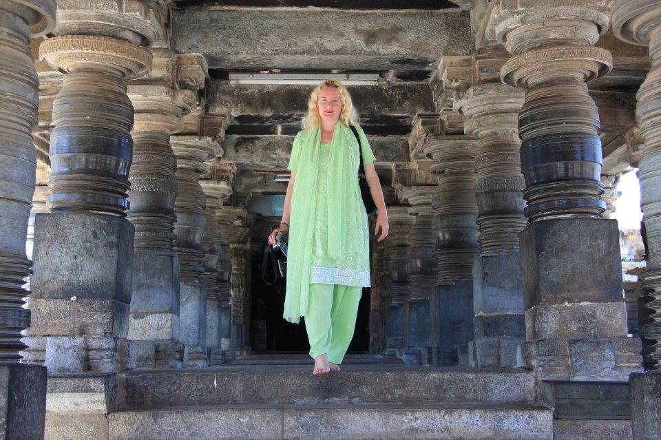 Semida founder of Shanti Spiritual Center in India temple Belur