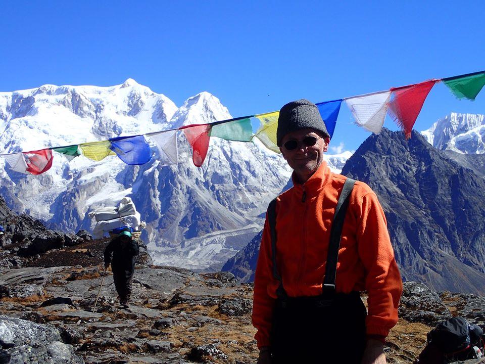 Calin and Kabru peak in Nepal